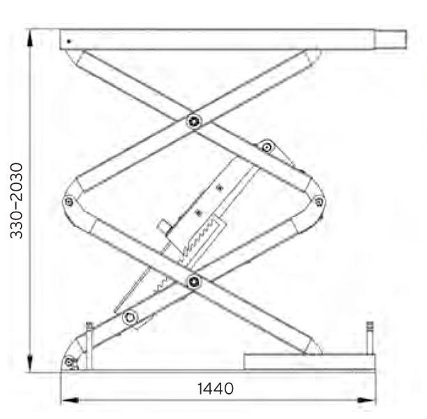 Automotive Lifts Dimensions : Lifts pa in floor scissor lift t